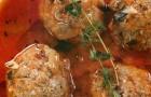Овощной суп с фрикадельками из мяса индейки и зеленью
