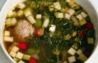 Овощной суп с мини-фрикадельками