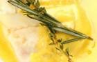 Палтус с шафранным соусом