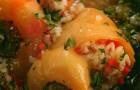 Перец, фаршированный овощами и жасминовым рисом