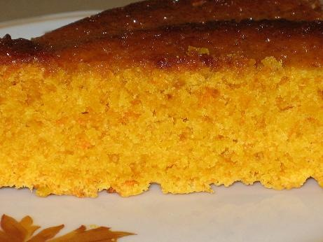 Пирог морковный открытый