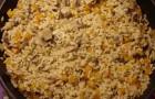 Плов из сушеных грибов