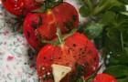 Подвяленные помидоры с соусом из мацони