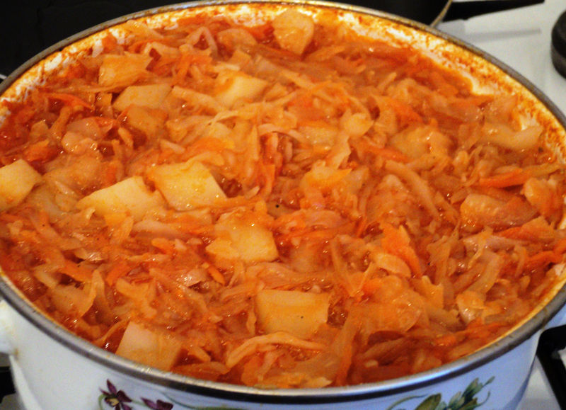 Рагу из картофеля и капусты