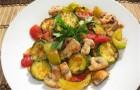 Рагу из овощей с грибами и зеленью