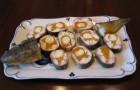 Рыба речная жареная, фаршированная луком и яйцом