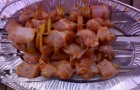 Шашлык из индейки с грибами