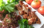 Шашлык из курицы с весенней зеленью