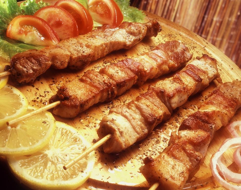 Шашлык из рыбы по-гречески