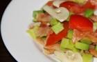 Салат из авокадо и шампиньонов