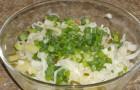 Салат из картофеля с квашеной капустой