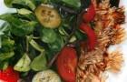 Салат из овощей с карпаччо из артишока и трюфельной заправкой