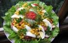 Салат из овощей со шпротами