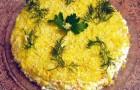 Салат из рыбных консервов с зеленым луком