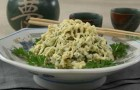Салат из тофу и огурцов