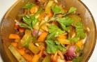 Салат из тыквы с маринованными огурцами