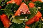 Салат из запеченной тыквы и шпината