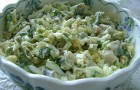 Салат из зеленого горошка с луком
