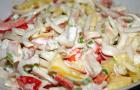 Салат картофельный с кальмарами