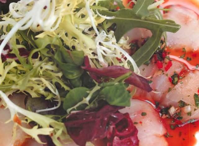 Сашими-салат из сибаса