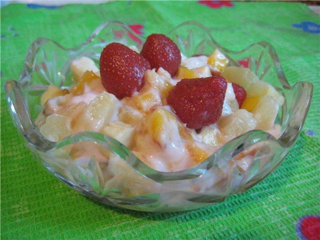 Сметанный соус для фруктовых салатов