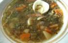 Суп грибной с овощами