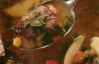 Суп из баранины с айвой