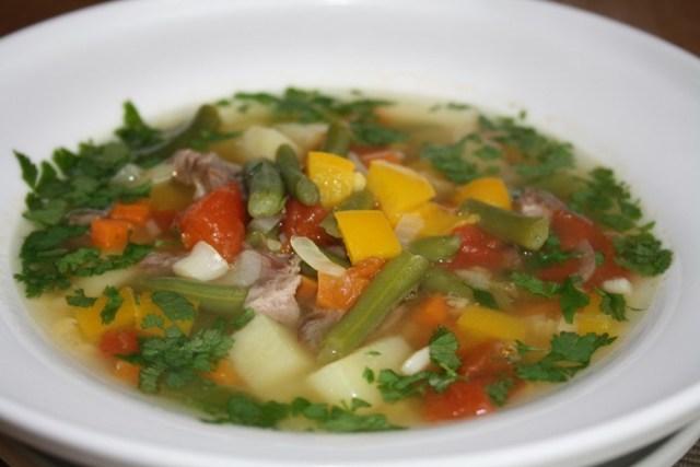 Суп из баранины с чечевицей