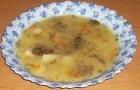 Суп из пастернака с базиликом и свежими шампиньонами
