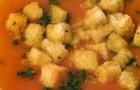 Суп-крем из овощей с гренками