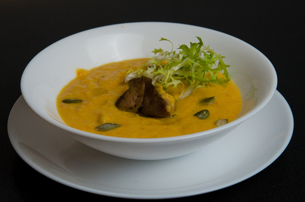 Суп-крем из тыквы с фуа-гра