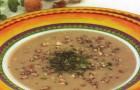 Суп острый фасолевый с орехами