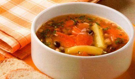 Суп с грибами и тыквой