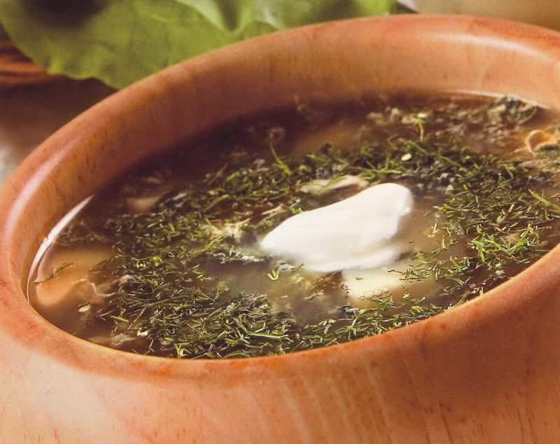 Суп с крапивой или щавелем