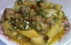 Свинина с грибами по-итальянски