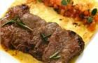 Тальята из говядины на картофельной лепешке