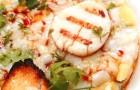 Тартар из морских гребешков с мятным манго