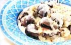 Телячьи почки в сметанном соусе с грибами и зеленью