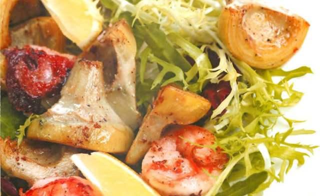 Теплые артишоки с морепродуктами