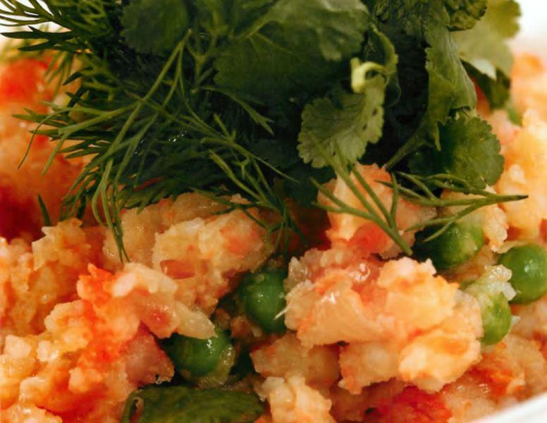 Толченый картофель с овощами