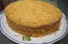 Торт «Медовик» постный
