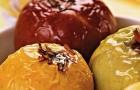 Тушеные яблоки с хрустящей начинкой