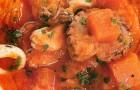 Тыквенный суп-пюре с морепродуктами