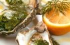 Устрицы, запеченные со шпинатом