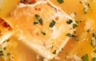 Яичный суп с сыром