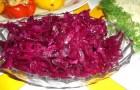 Закуска из краснокочанной капусты с чесноком