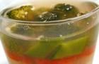 Заливное из рыбы и овощей с соусом хрен