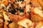 Запеченная репа с тимьяном и кедровыми орешками