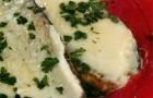Запеченные баклажаны с моцареллой и соусом пронто