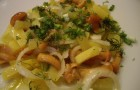 Картофельный салат с опятами